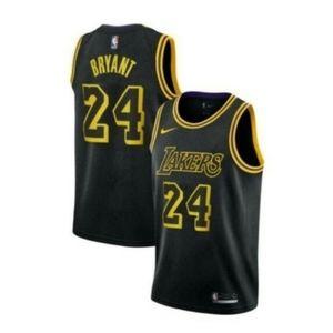 Men's Lakers #24 Kobe Bryant Jersey Black